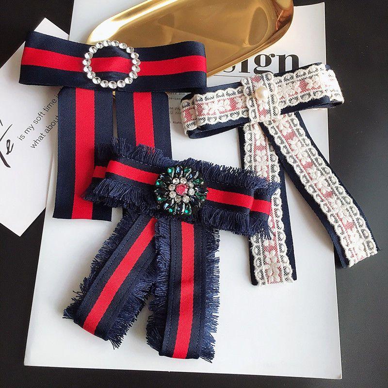 Lace Grograin Ribbon Crystal Fashion Ladies Men Pre Tied