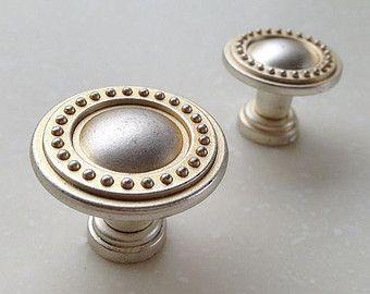 Shabby Chic Vintage silver Cabinet Handle Pull Knobs Hardware / Dresser Drawer Pull Handles Knob Vintage silver Pulls