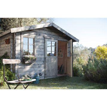 Abri de jardin en bois Luoto, surf.10.2 m2, ép. panneaux 28mm ...