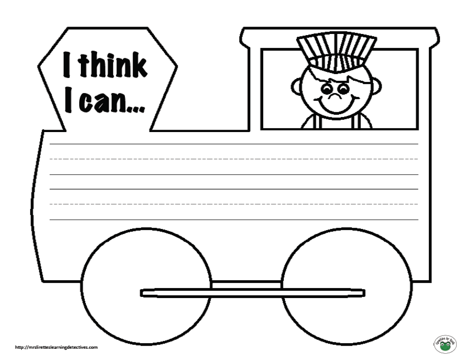 Writing Prompt Freebie (The Little Engine That Could) | KinderLand ...