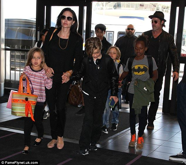 The clan as it was: Together he and Jolie are parents to Maddox, 15, Pax, 13, Zahara, 12, ...