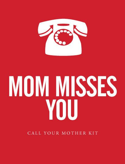 Mom Misses You Call Your Mother Kit Gifts