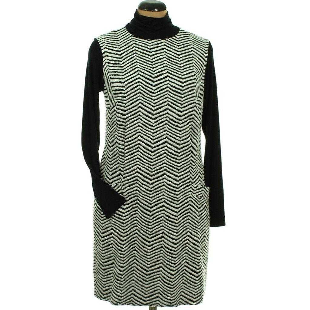 08700a0ef6 Wallis fekete-törtfehér ruha | Ruha - Női ruha | Gardrób | Pinterest