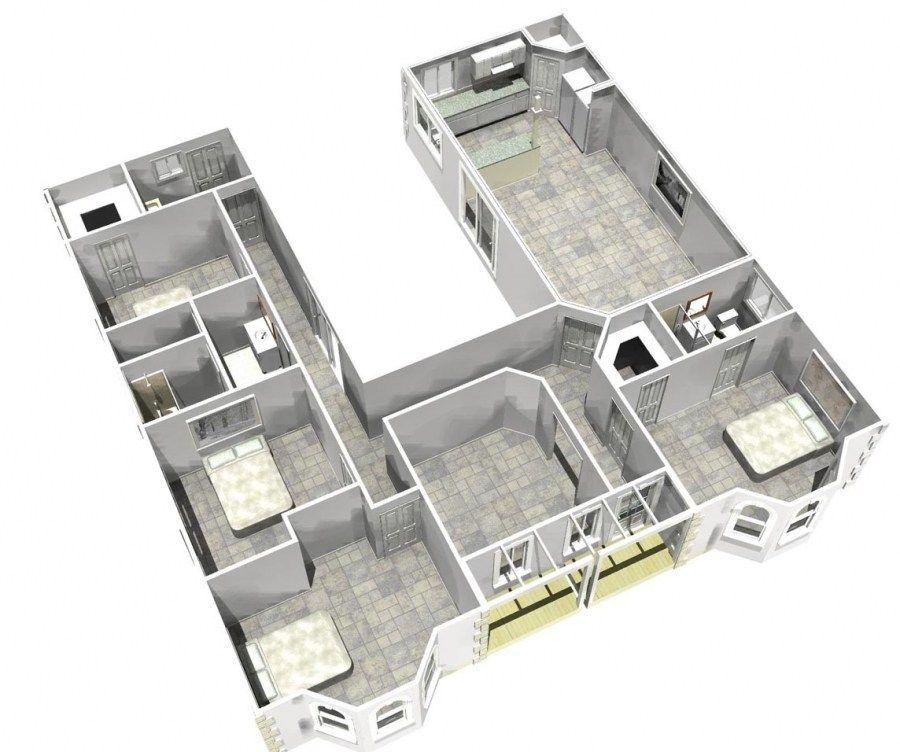 superb horseshoe house plans #3: House · Horseshoe House Plans ...