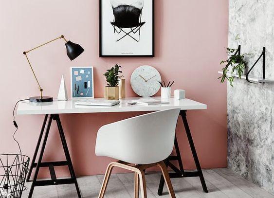 8x Minimalistische Werkplek : Inspiratie werkplekken met een touch of pink homedeco