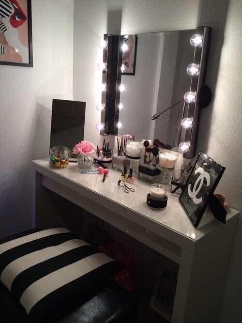 31 Fascinantes Tocadores Con Espejo De Luces Que Te