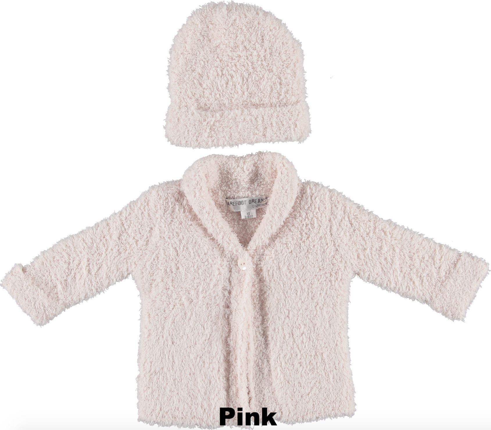 'CozyChic' Baby Cardigan and Hat