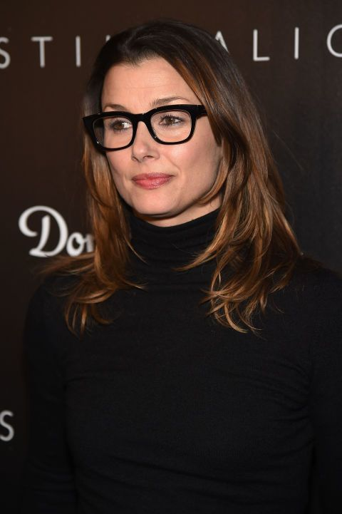 c9846c5722e Davis Vision – Bridget Moynahan goes all black with her geek chic frames.   eyeglasses