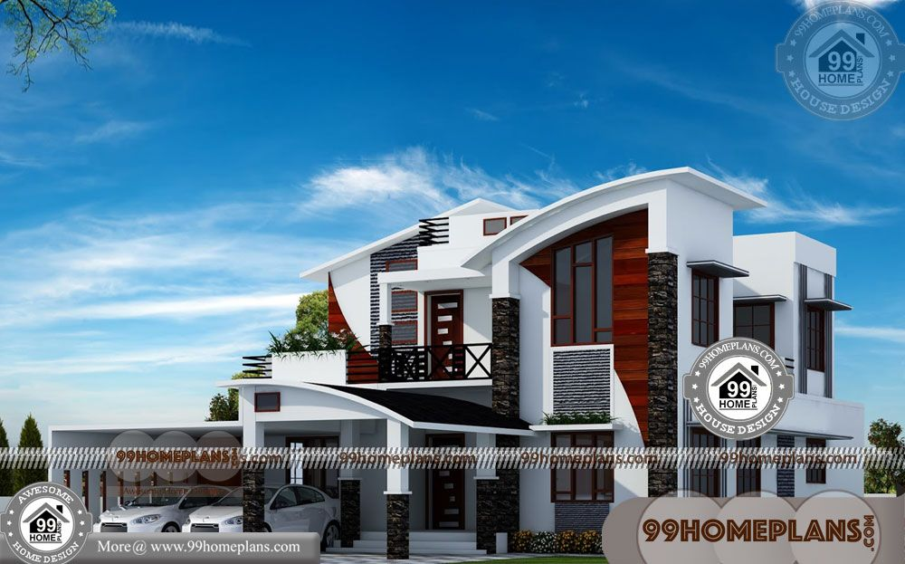 New Home Models And Plans With New Two Story House Plans Having 2 Floor 4 Total Bedroom 4 Total Ba House Design Pictures Model House Plan Kerala House Design