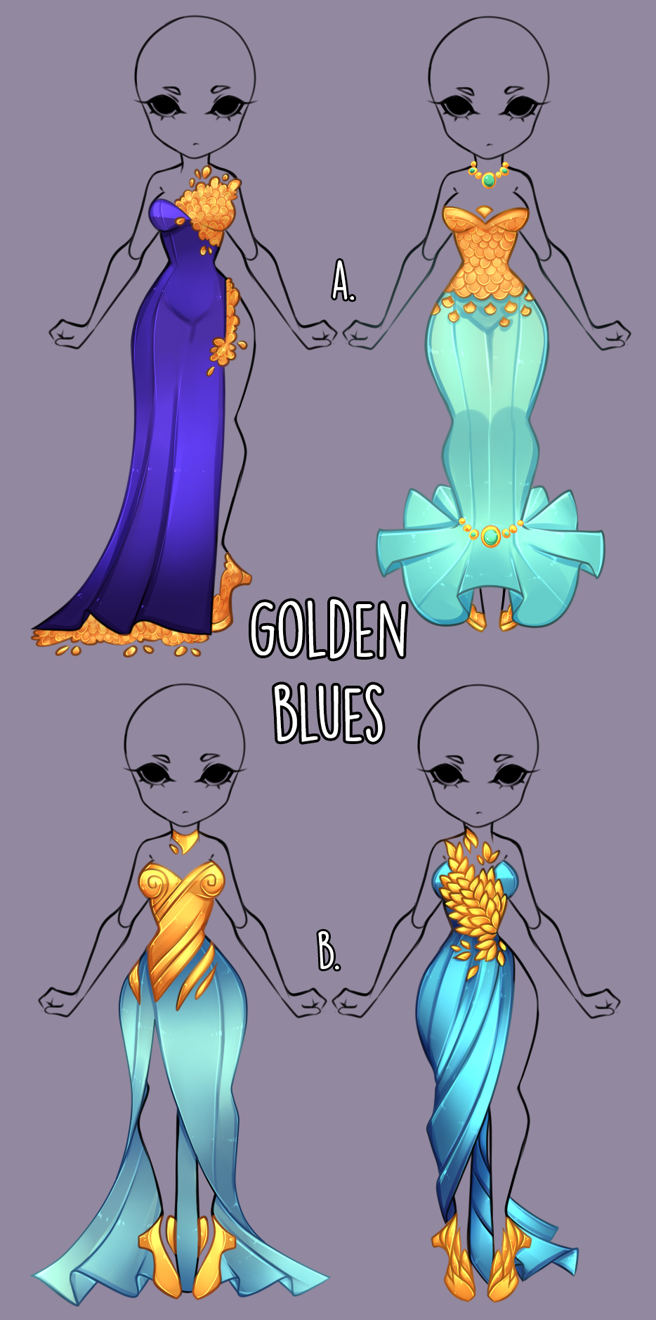 Golden Blues outfit adopt [open] by MissTrinity on