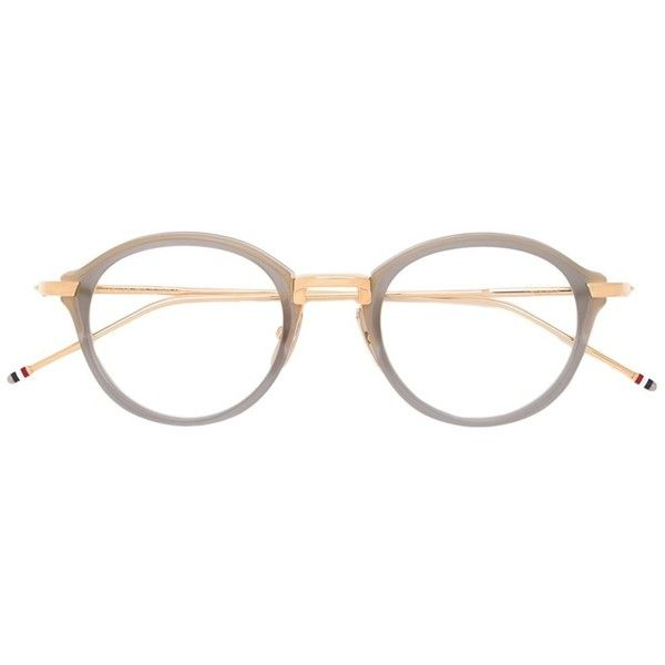 ed50f454239c Thom Browne round frame optical glasses (2.900 RON) ❤ liked on Polyvore  featuring accessories