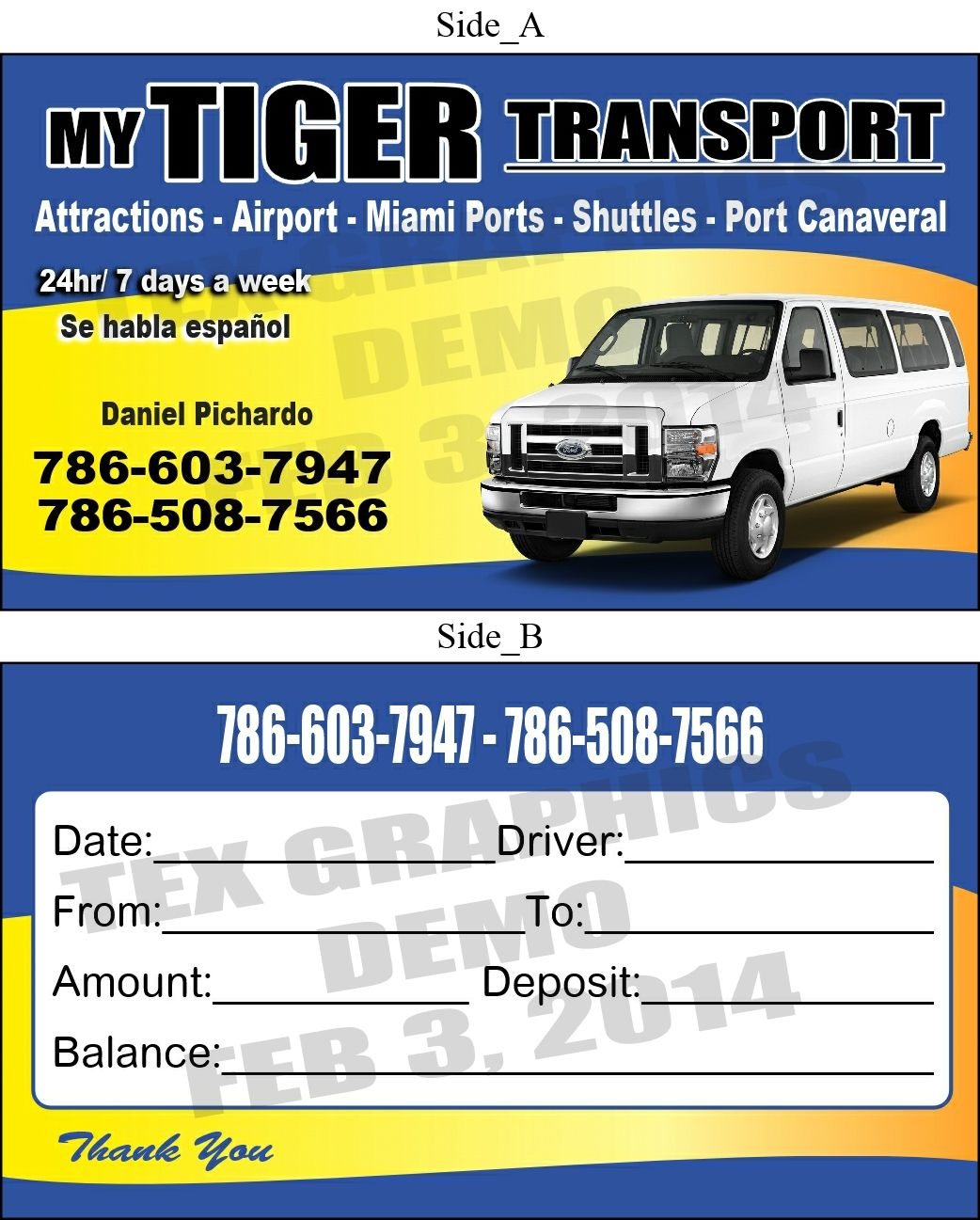 Need Transportation Business Cards Call Us For A Free Estimate 321