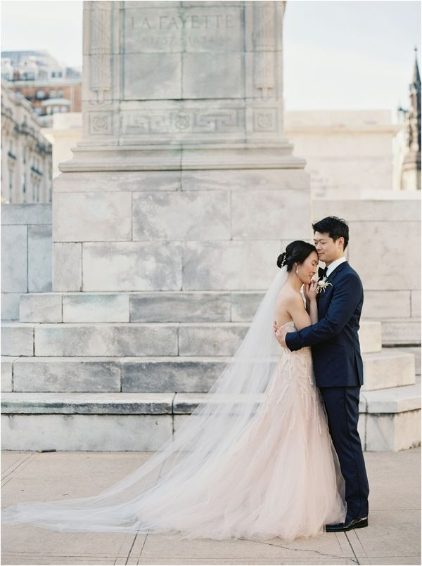 12 dreamy bridal updo cathedral lace veil