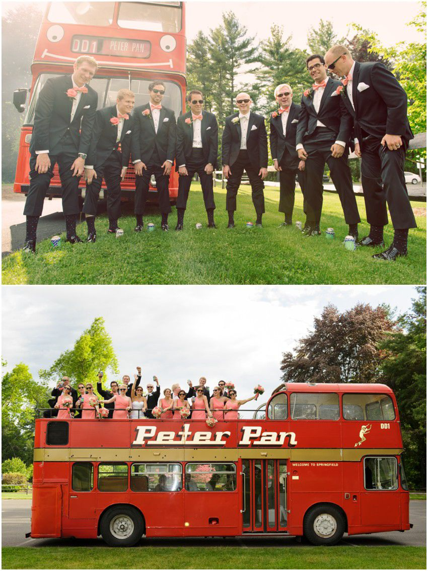 The Ever Popular Peter Pan Double Decker Bus And Wedding Party