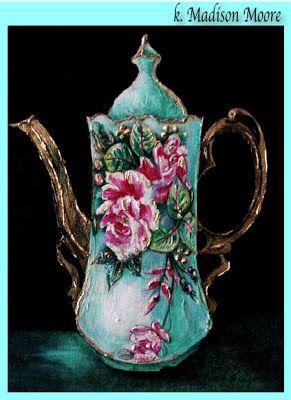 Image Detail for - Limoge Chocolate Pot circa 1900