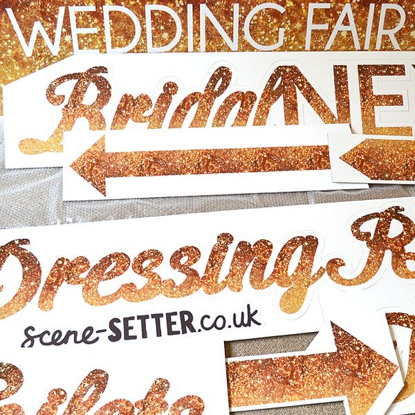 A Most Curious Wedding Fair - Bespoke Signage.
