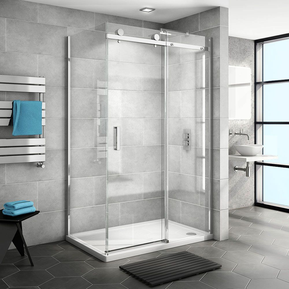 Nova Frameless 1200 X 700 Sliding Door Shower Enclosure Victorian Plumbing Uk Shower Enclosure Corner Shower Enclosures Frameless Shower Enclosures