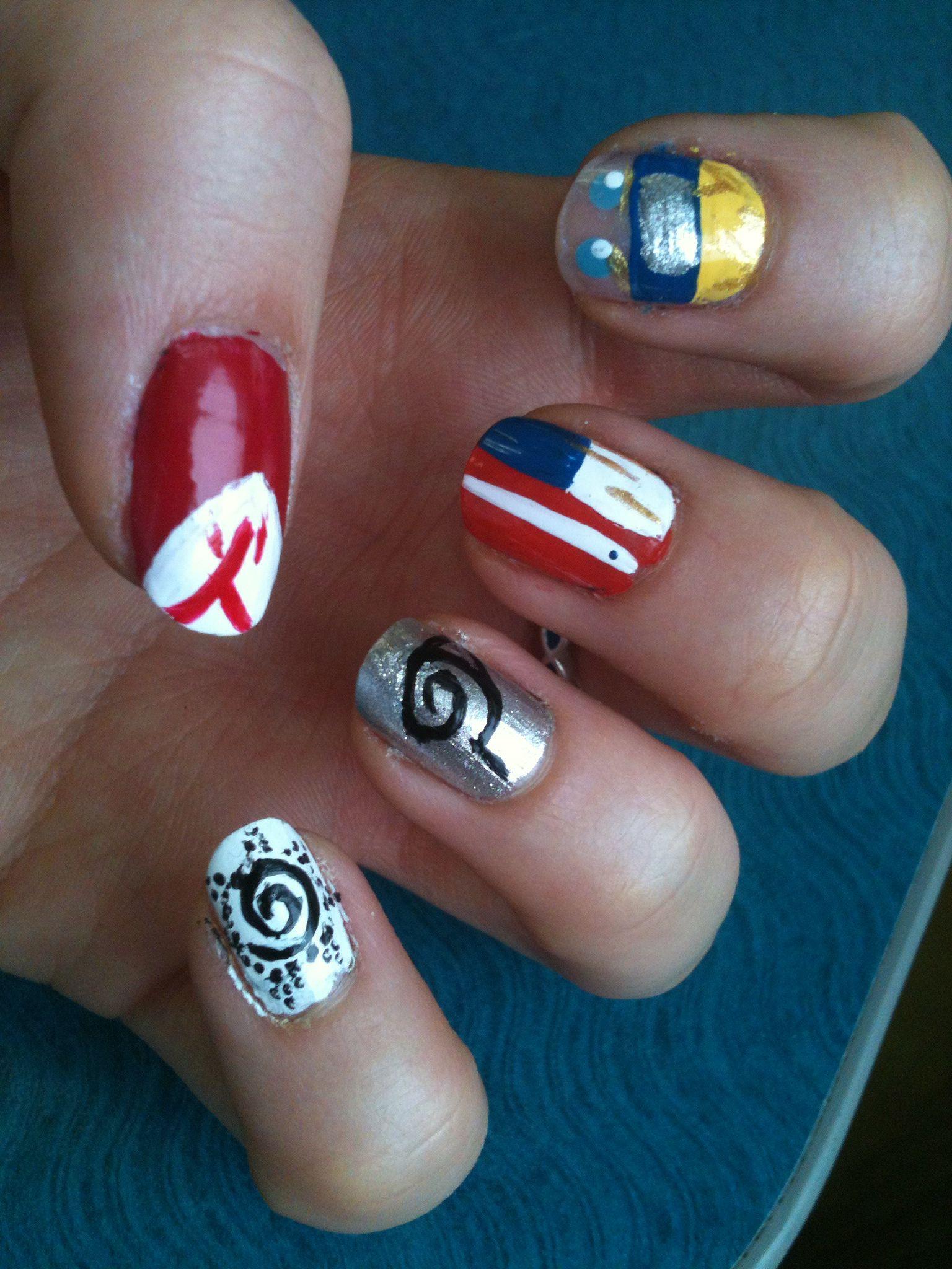 Naruto nail art | Nails | Pinterest | Naruto
