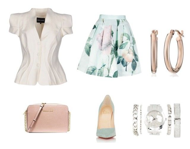 """""""Untitled #8"""" by willimodawn on Polyvore featuring Giorgio Armani, Ted Baker, Christian Louboutin, MICHAEL Michael Kors and Charlotte Russe"""