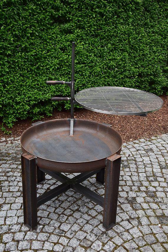 acier pur ! le bol de feu mesure 80 cm de diamètre et donc
