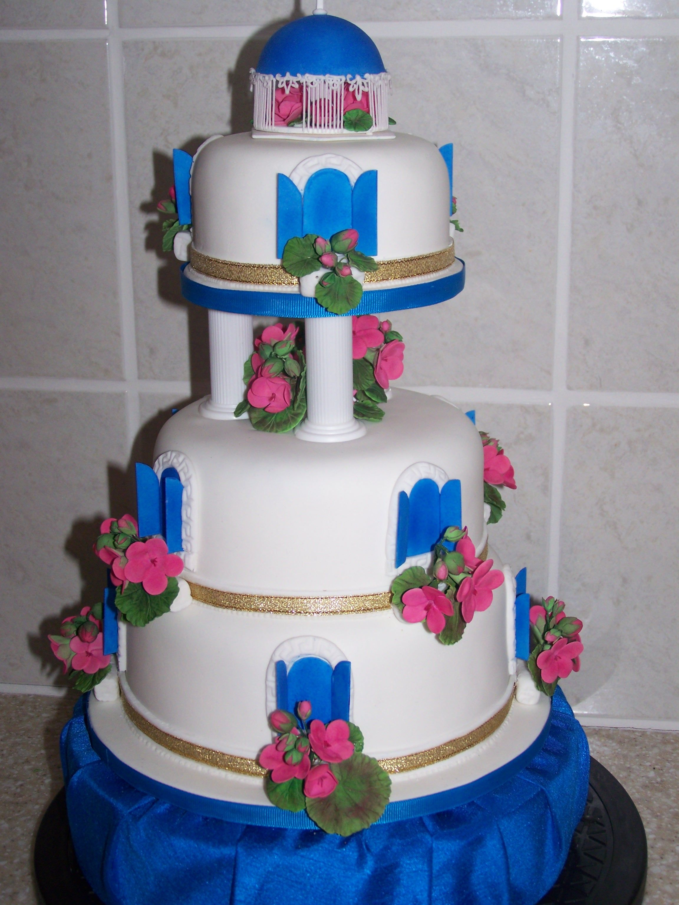 greek wedding cake recipe blue themed wedding my take on a santorini themed 14948
