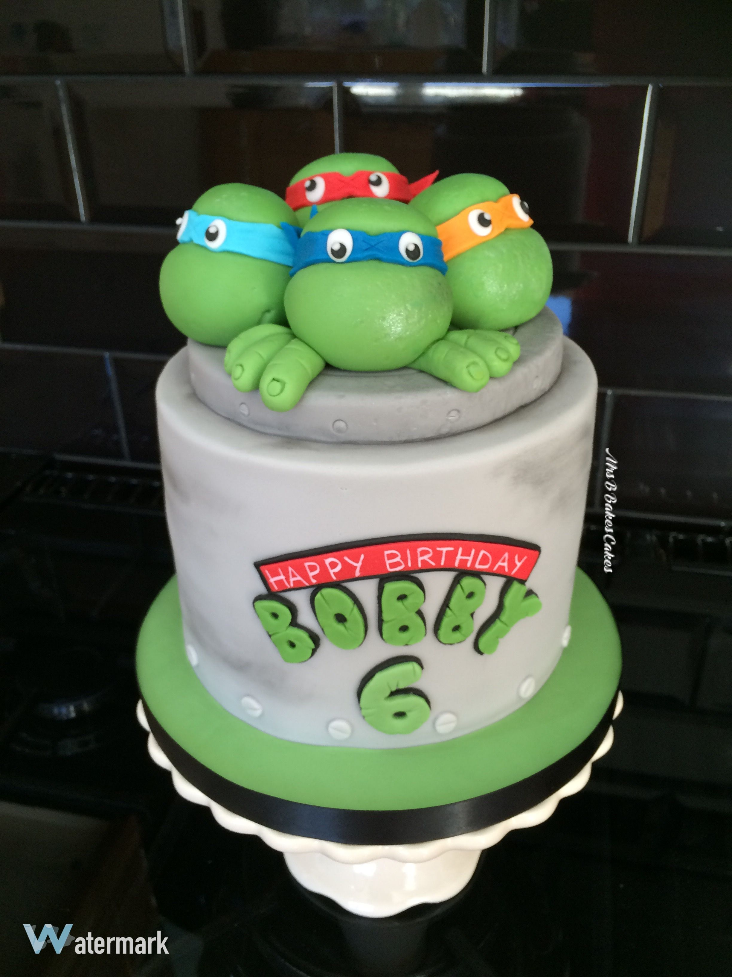 TMNT Teenage Mutant Ninja Turtles Birthday Cake with edible