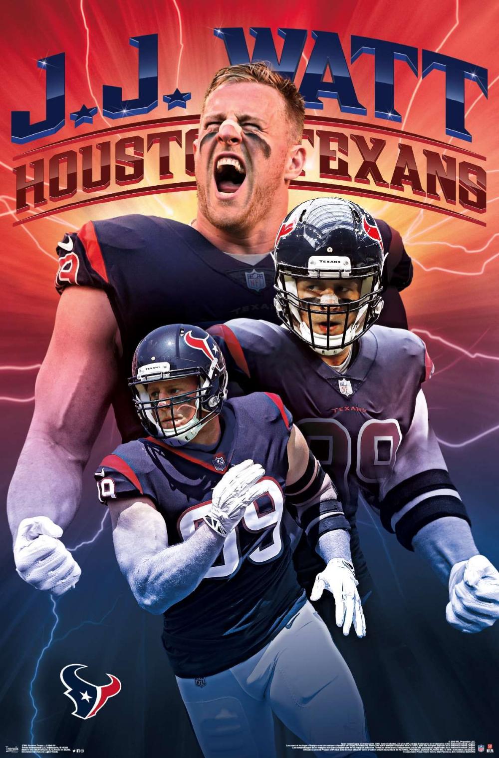Houston Texans Jj Watt Houstontexans Nflfootball Nfl Footballposter Footballpartydecorations Trendsposters Nfl Houston Texans Houston Texans Texans