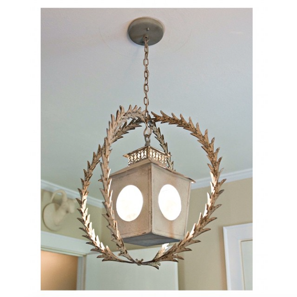 @MDickensDesign tops off a nursery perfectly with this antique chandelier. #interiordesign #greenvillesc #babynursery #kidsrooms #lightfixtures #volumeone #tsggreenville #thescoutguidegreenville #yeahTHATgreenville