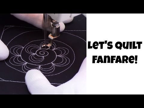 Really Nice New Quilting Design By Leah Day 1 Beginner Machine Quilting Fanfare Design Quil Machine Quilting Free Motion Quilt Tutorial Quilting Tutorials