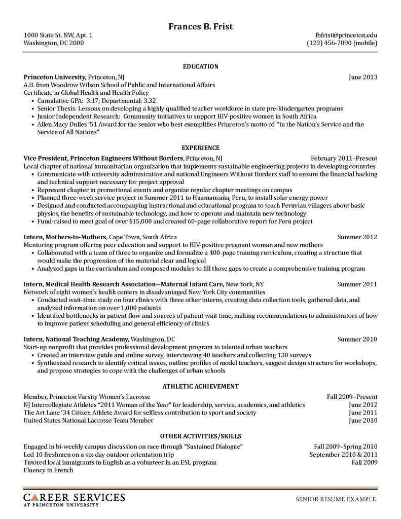 Sample Resumes Student Resume Template Student Resume Resume Examples