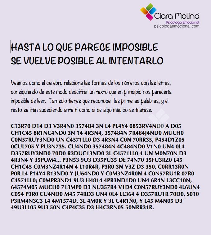 EL PODER DE LA MENTE... Sesiones y Cursos Online www
