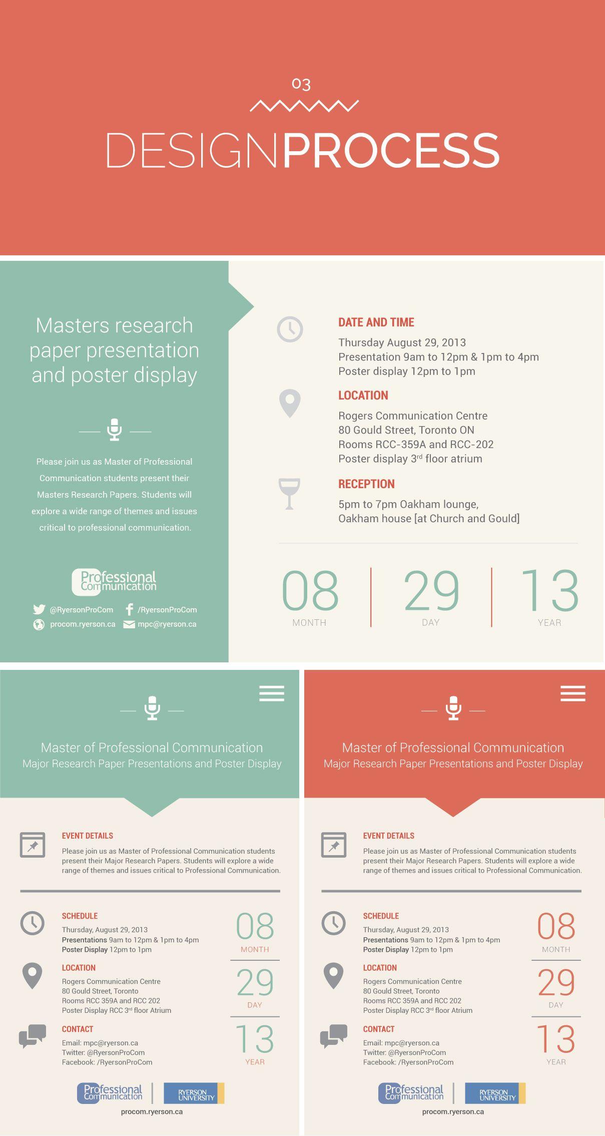 Poster design process - Minimalist Event Invitation Poster Design Irene Victoria