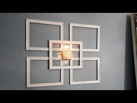 Dollar Tree Picture Frame Wall Sconce Use What You Have