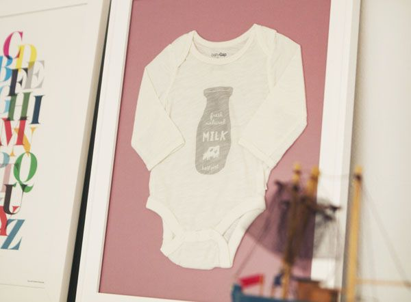 9a1584af3 DIY :: Frame Your Baby's First Onesie | Baby Keepsake Ideas ...