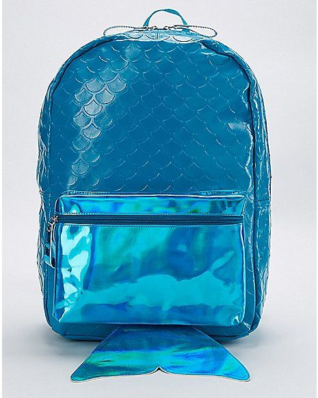 adade86623fb Mermaid Tail Backpack - Spencer s