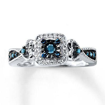 Artistry Diamonds Black Diamond Ring 1/4 ct tw Round-cut Sterling Silver DeaWw