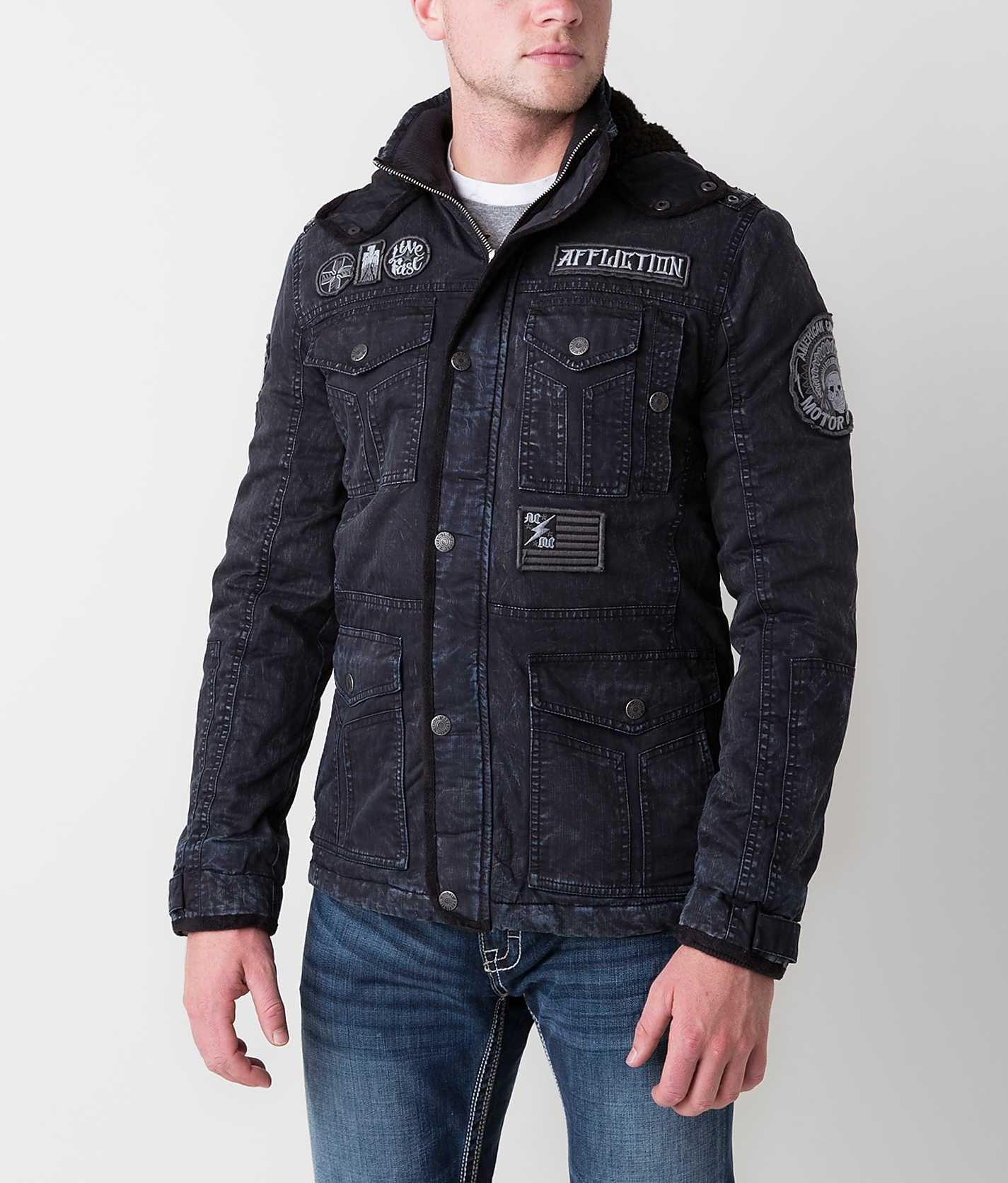 Affliction Black Premium Hysteria Jacket Men's Outerwear