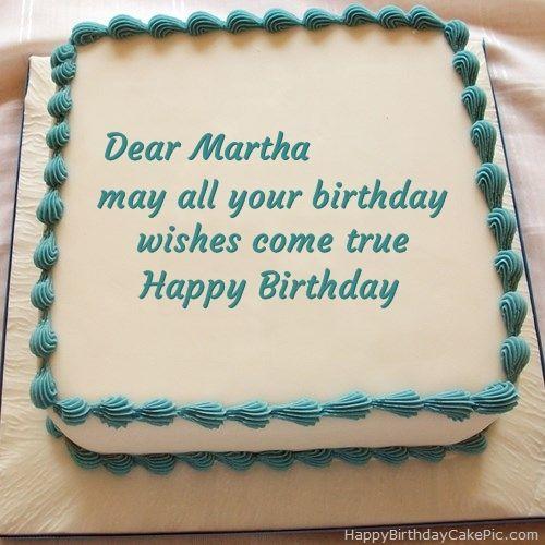 Happy Birthday Cake For Martha 500x500
