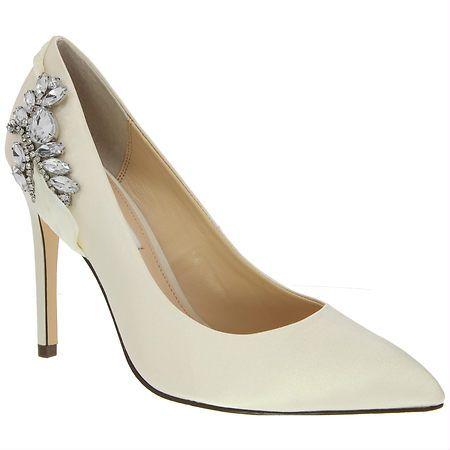 Nina RHONAE IVORY CRYSTAL SATIN by Nina Shoes - 4 inch heels