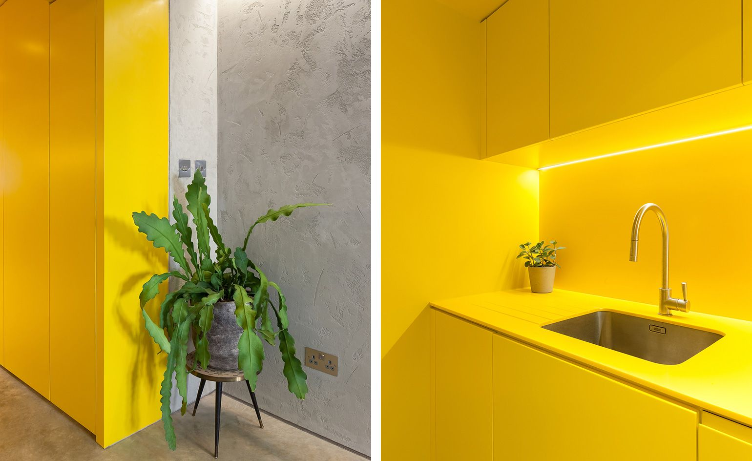 Hello Yellow Russian For Fish Breathes New Life Into A London Terrace Duplex With Images Victorian Terrace House Interior Polished Concrete
