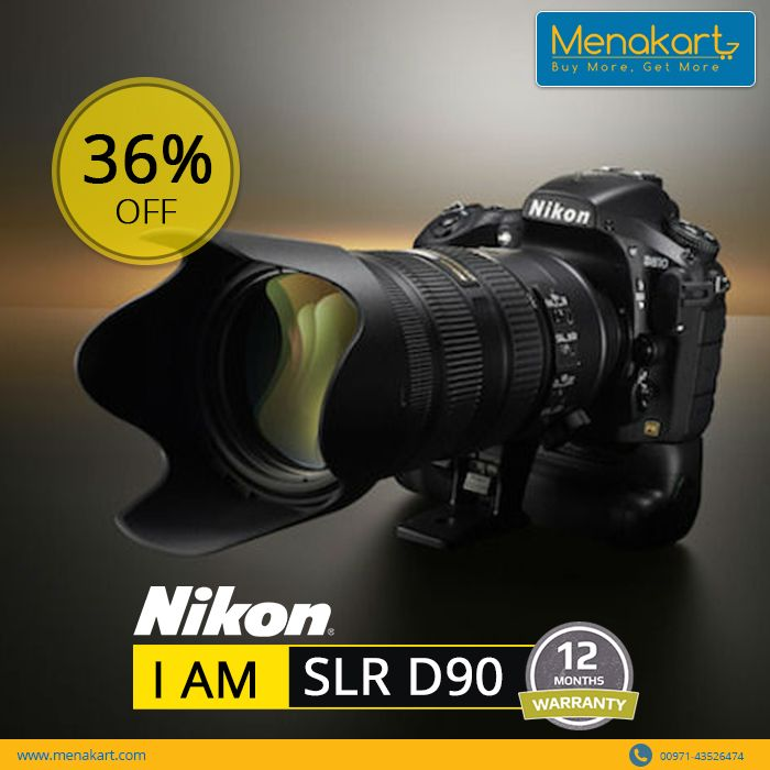 All you passionate photographers out there, grab this offer. ‪#‎Nikon‬ ‪#‎D90‬ fuses technology that will help you achieve superior results. Check https://www.menakart.com/nikon-camera-slr-d90.html to know more about the product and the offer.