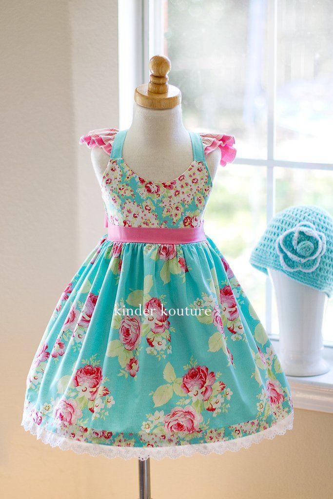 Lola Rose Dress (Aqua) | nähen | Pinterest | Nähen, Kinder und Nähideen