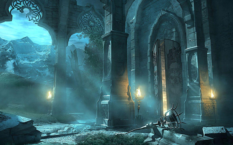 Widescreen digital fantasy cg wallpapers 1440 900 wallpaper fantastic landscapes - Cg background hd ...