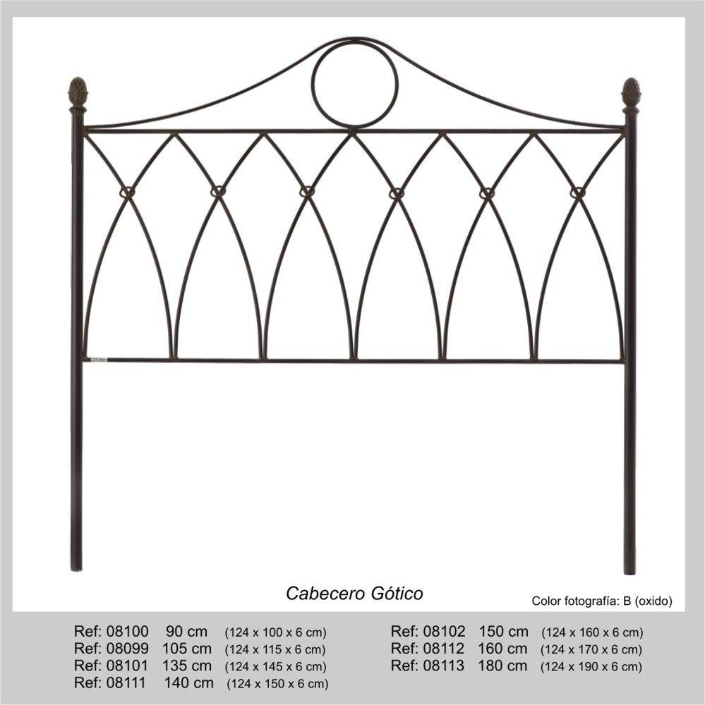 Cabecero Gotico en forja para somier de 90cm - Su estilo en forja ...