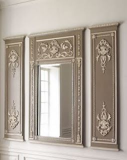 Wall Mirror Set Of 3 trumeau wall mirror set <3 | home <3 | pinterest | gray, dining
