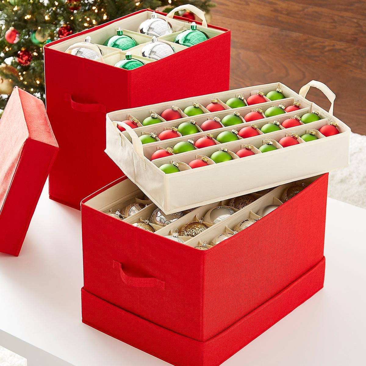 Jubilee ornament storage chests ornament storage container store