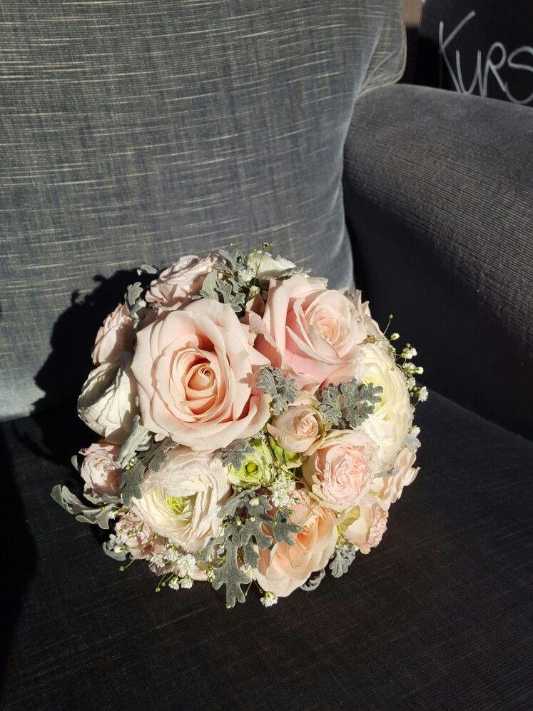 Brautstrauss Pastell Rosa Grau Wedding Hochzeit Flowers Made