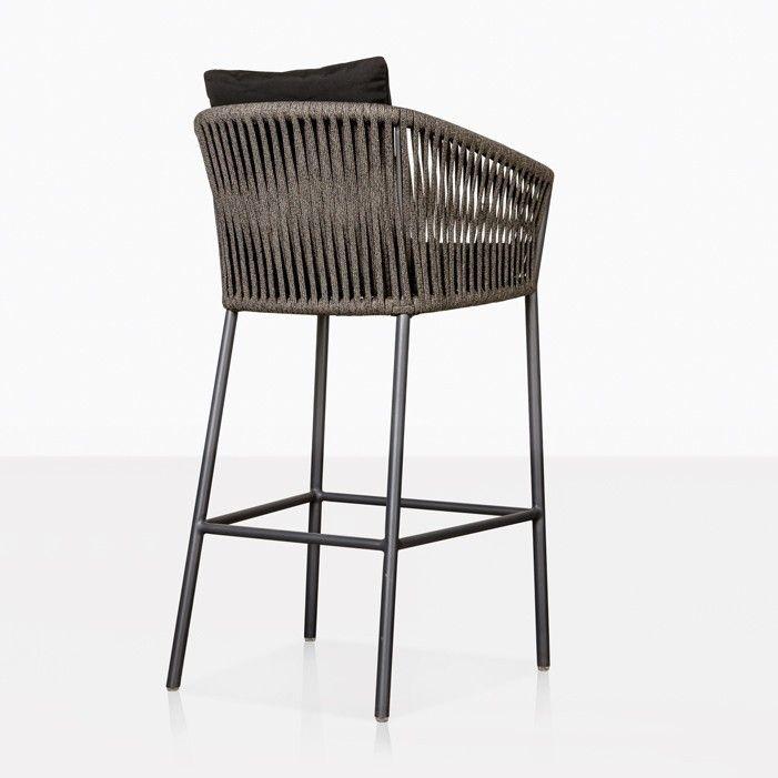 Fine Washington Black Rope Outdoor Bar Stool Flame In 2019 Ibusinesslaw Wood Chair Design Ideas Ibusinesslaworg