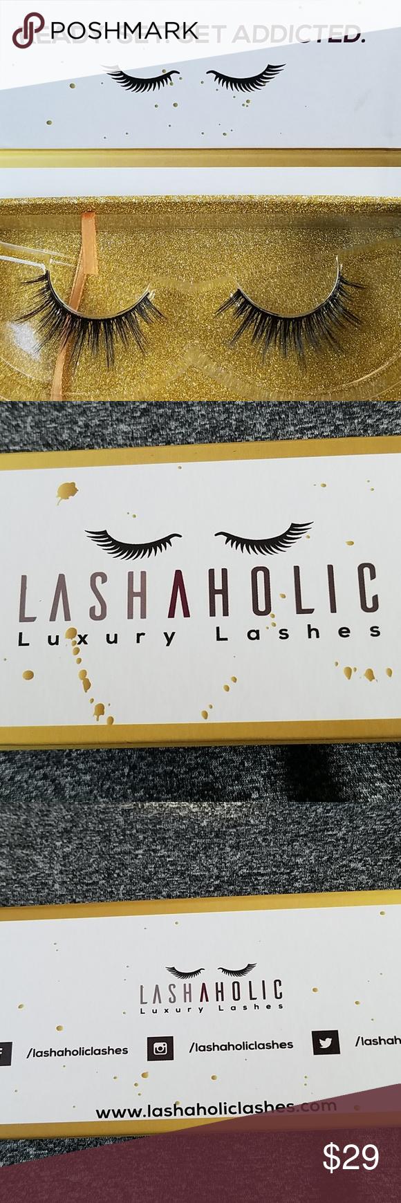 b7e51482eee Lashaholic instaglam black VEGAN false eyelashes 100% Vegan Made from 100%  Silk fibers.