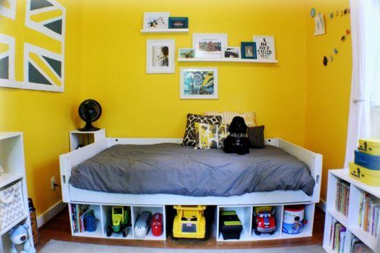 Hervorragend Jugendzimmer Für Jungen Gestalten Gelb Wandfarbe Bett Spielzeuge
